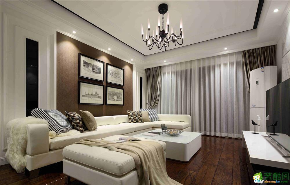 超世装饰--现代简约风格110平米三室两厅装修实景案例图