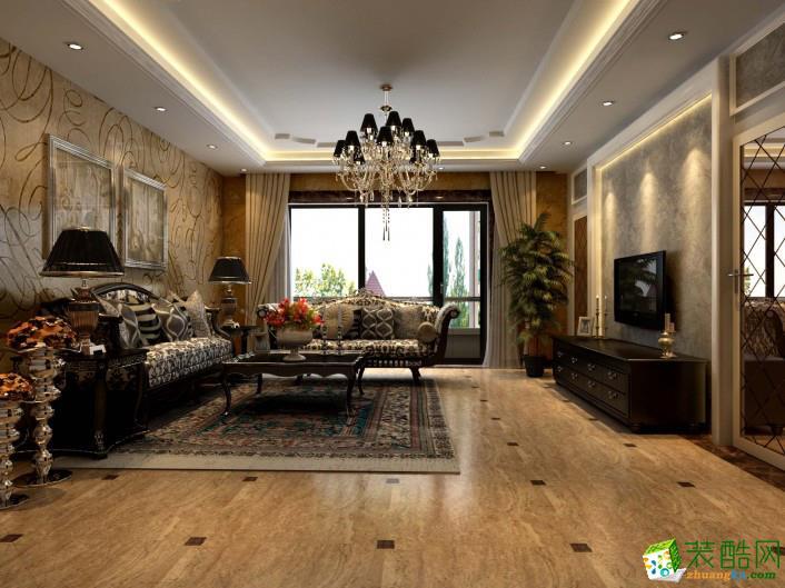 左航装饰---欧式风格120平米两室两厅装修案例图