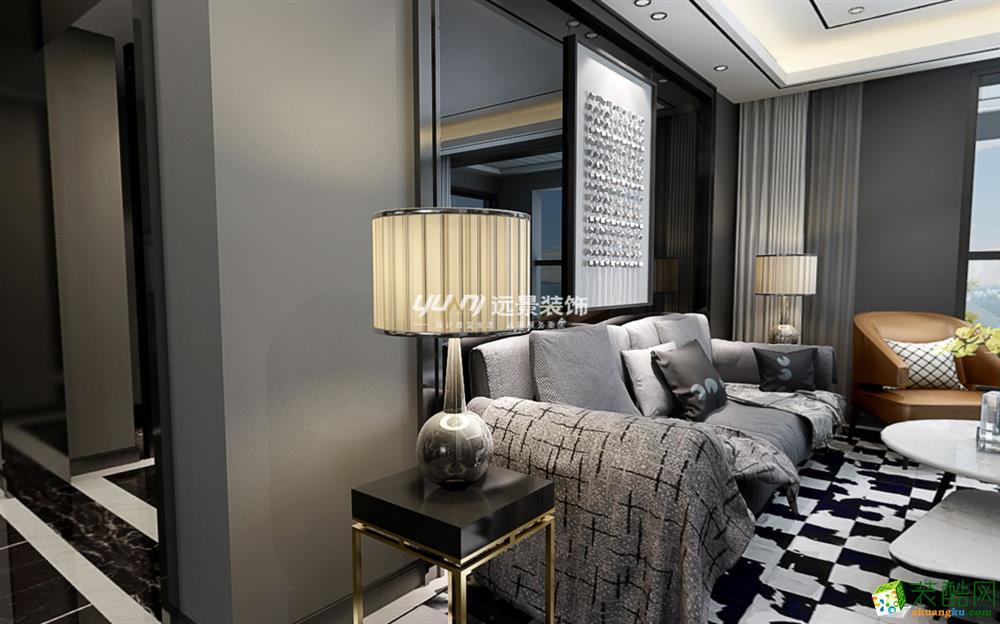 恒基翔龙江畔130平米古典风格三室两厅装修案例图赏析 远景装饰