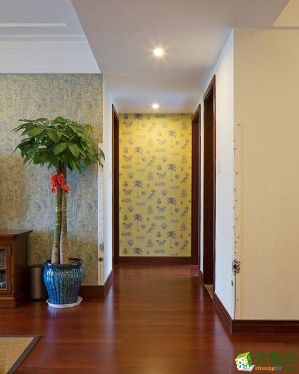 恒基・翔龙江畔113平米现代简约风格三室两厅装设计修案例图赏析|新思路装饰