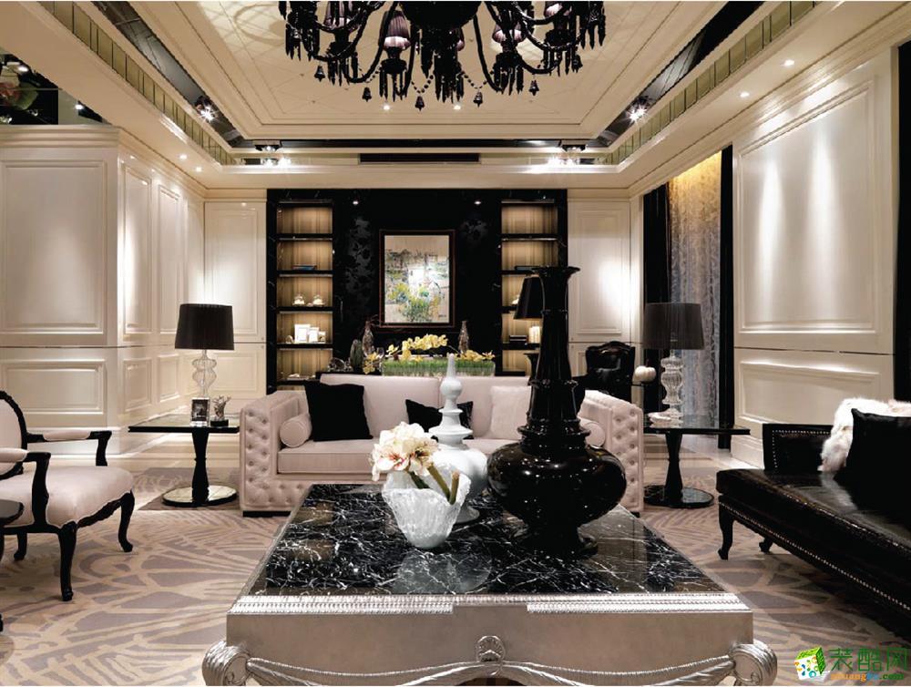 DE设计--现代简约风格124平米三室两厅装修实景案例图