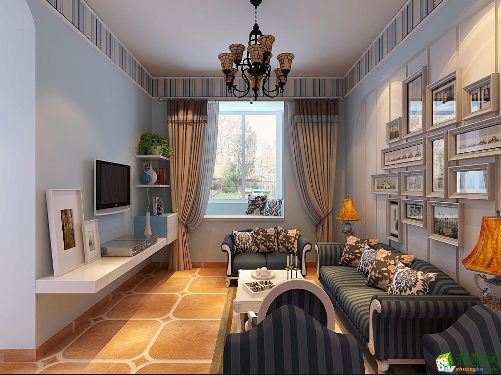 博玛装饰--美式风格126平米三室两厅装修案例图