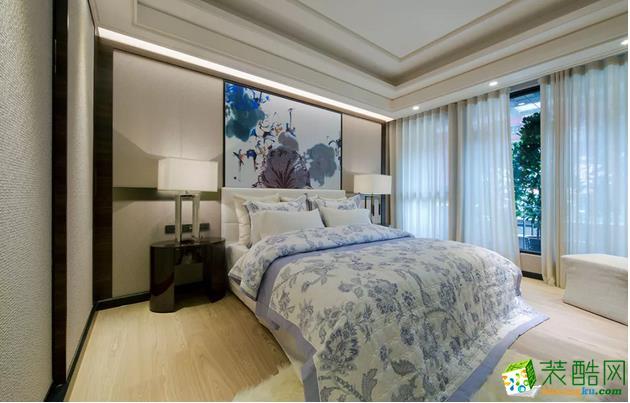 【构家装饰】125�O新中式风格三居装修效果图欣赏
