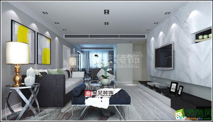 【南通星艺装饰】南山国际86方两室两厅欧式风格装修设计效果图