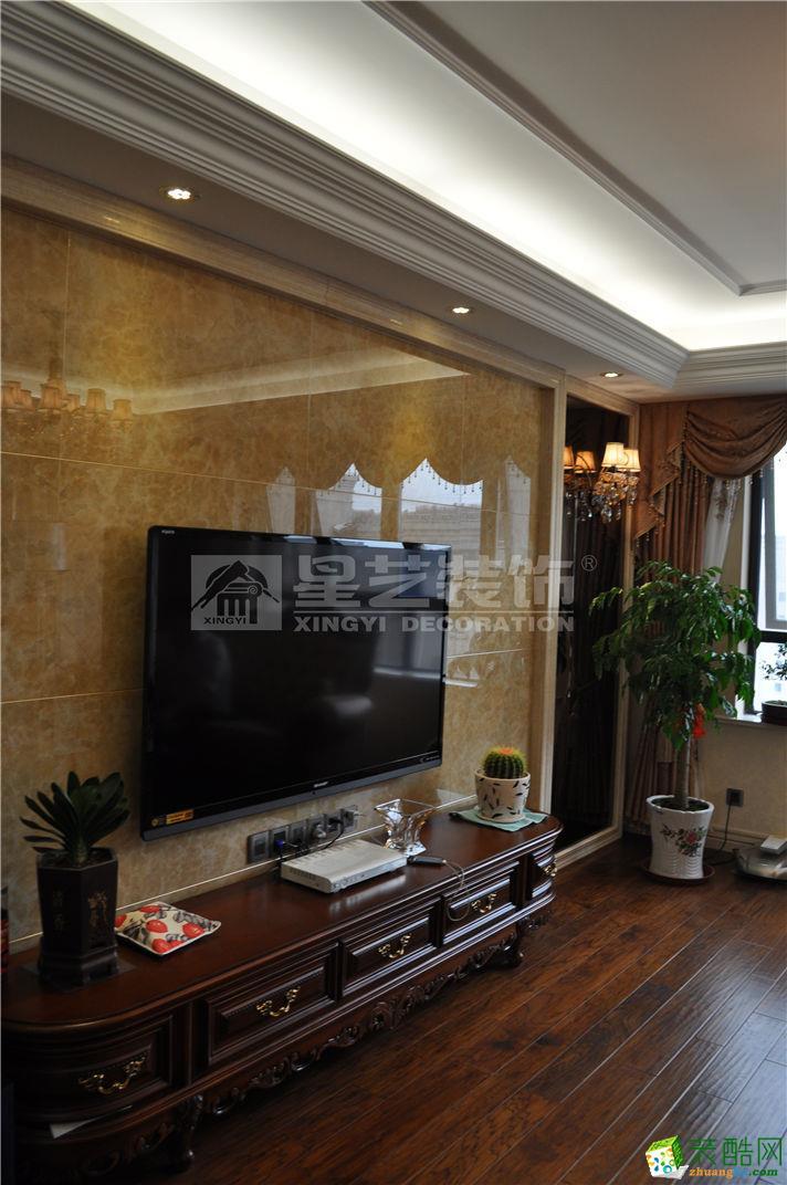 【南通星艺装饰】中港城108方欧式风格三居室装修设计效果图