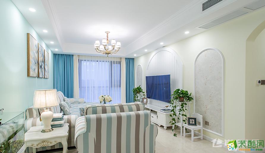 绿地GIC106平米三室两厅装修案例图|岚庭装饰