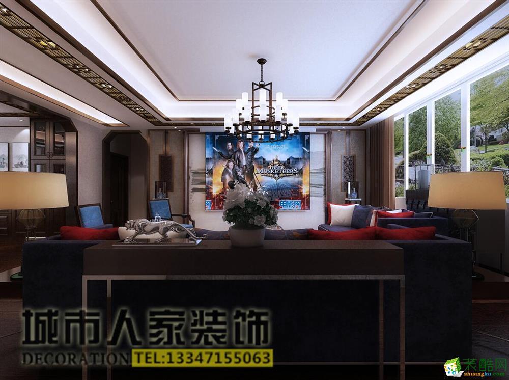 兴泰东河湾330平米中式风格案例效果图