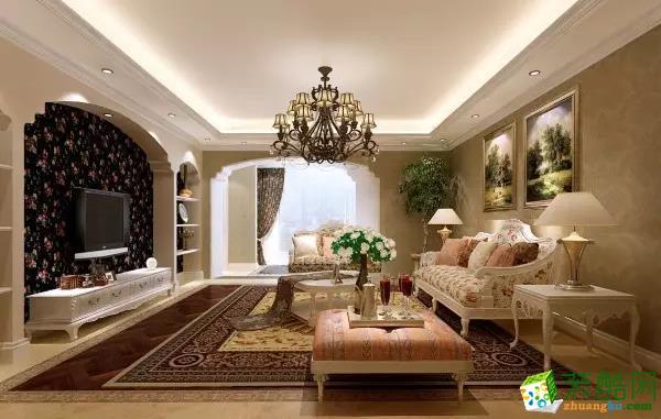 【一品装饰】外滩16区146�O欧式风格三室装修效果图