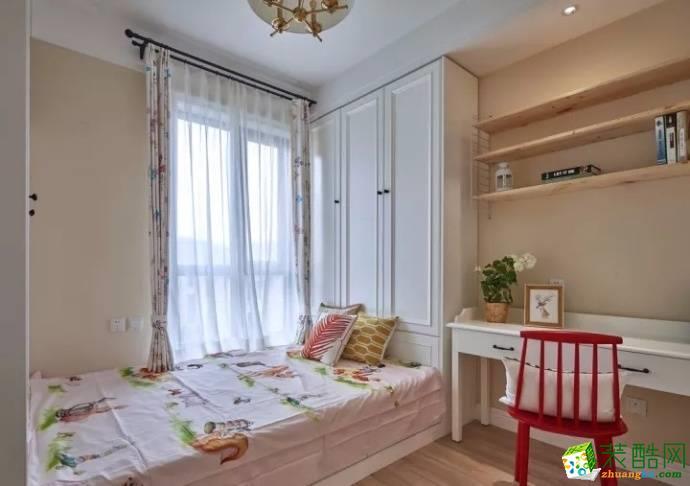 鲁能中央公馆95平米北欧风格跃层住宅装修实景案例图赏析|维享家装饰