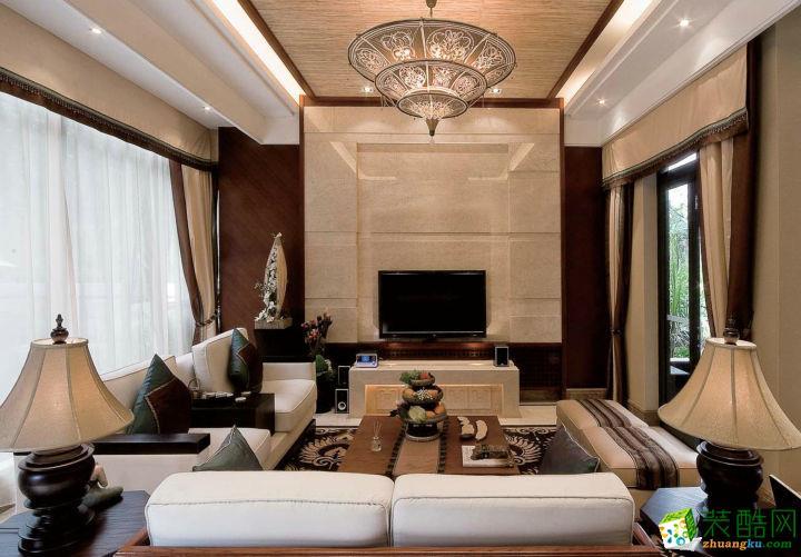 400平米東南亞風格別墅住宅裝修實景案例圖|山頂裝飾
