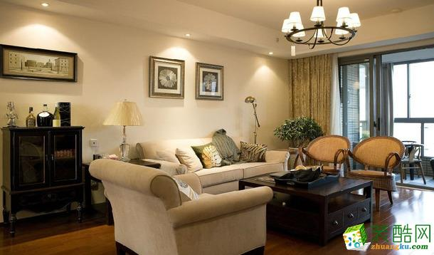 【洛可可裝飾】和達璟城 三居 美式風格 裝修效果圖
