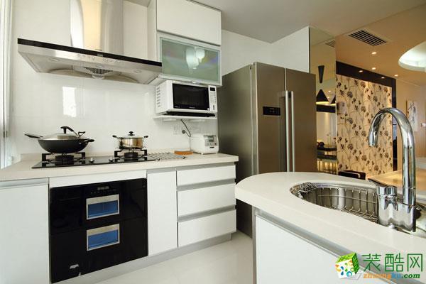 万科城市120平米现代简约风格三室两厅装修案例图赏析|唯意装饰