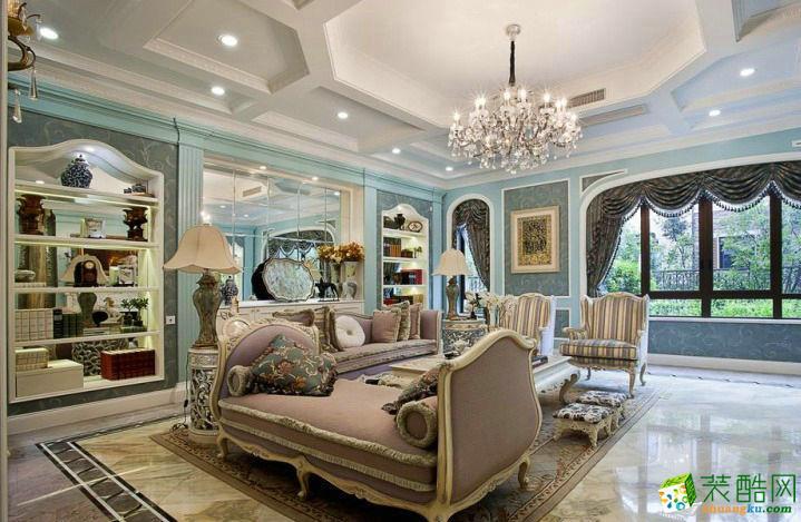 220平米法式风格别墅住宅装修实景案例图赏析|唯意装饰