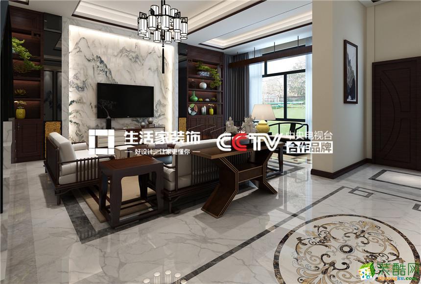 博園世家191平米中式風格四室兩廳裝修實景案例圖 生活家裝飾