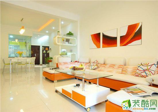 居巢装饰―150方三室两厅现代风格装修设计效果图
