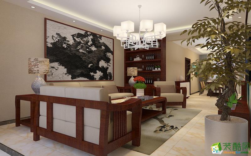 扬州厚德装饰-新中式四室装修效果图