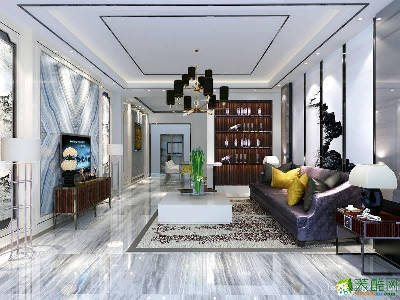 现代简约风格99平米三室两厅装修案例图 琅蜂装饰