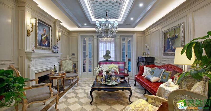 半岛城邦270平米法式风格别墅住宅装修案例图 琅蜂装饰