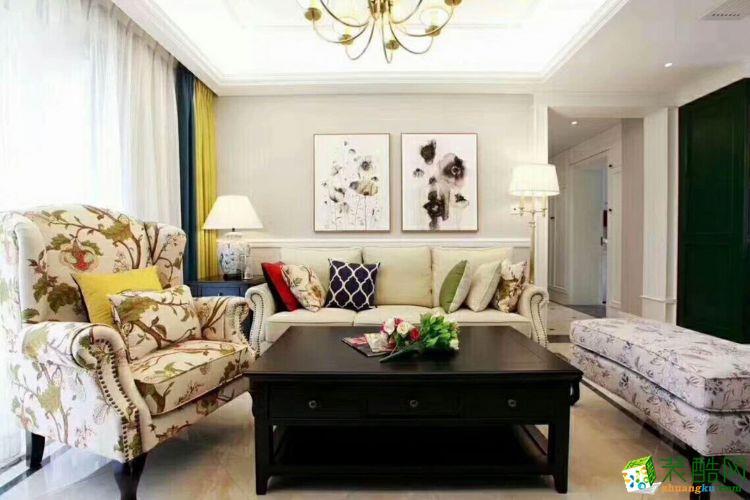 三室两厅 108平米 欧式风格 装修效果图