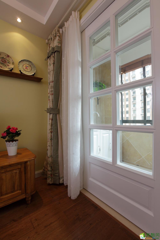 >> 百姓装潢 田园风格130平米现代简约风格三室两厅装修实景案例