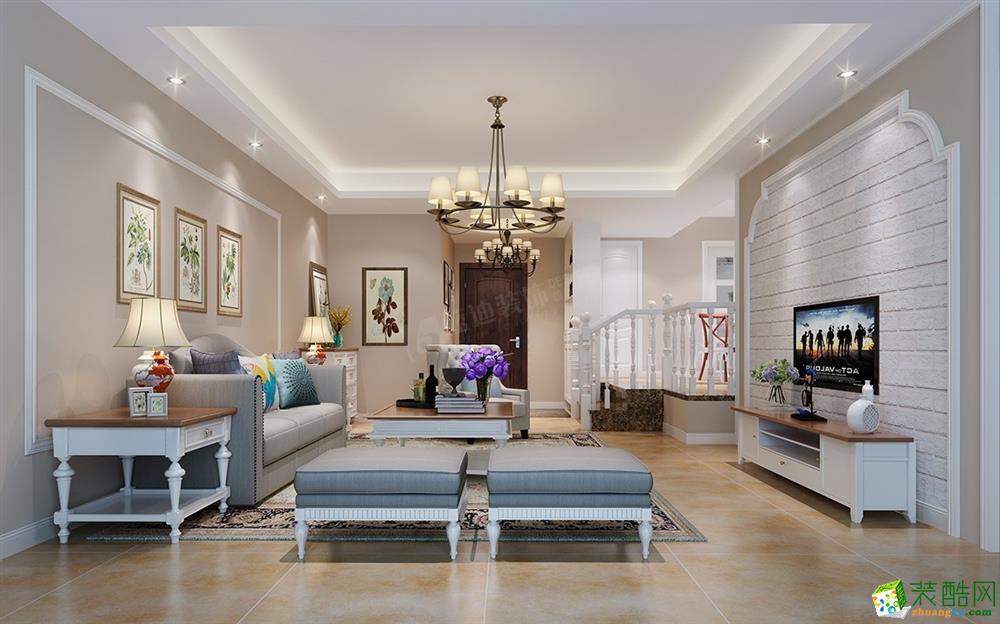 斯越云谷99平米简美风格三室两厅装修案例图|蓝迪装饰