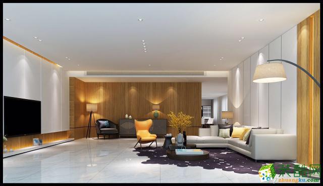 凤凰传奇143平米现代简约风格四居室装修案例图|华浔品味装饰