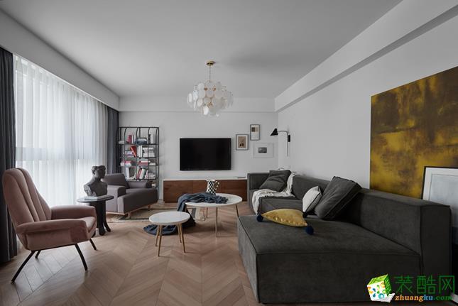 名豪装饰―145�O混搭风格三居室装修设计效果图