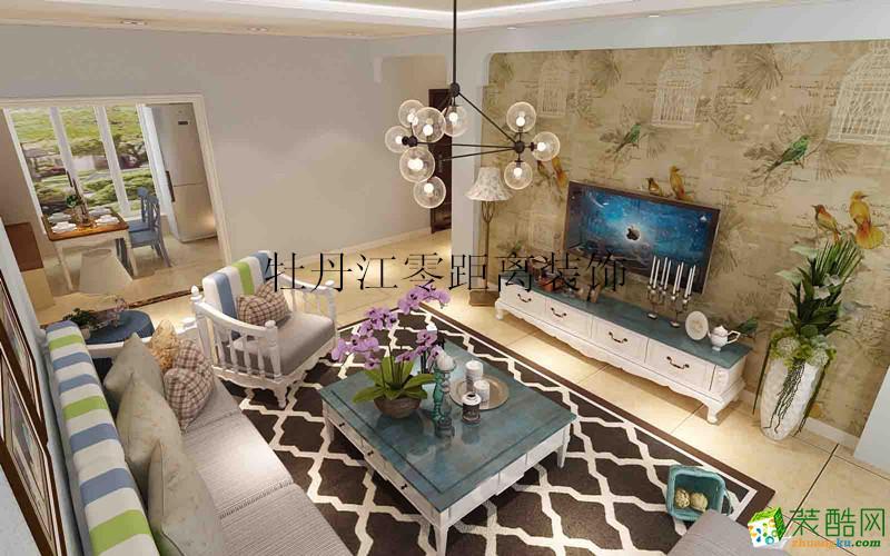 零距离装饰―江南华府100方地中海风格三居室装修设计效果图