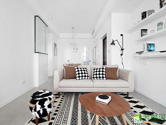 爱家装饰―100�O三室两厅北欧风格装修效果图