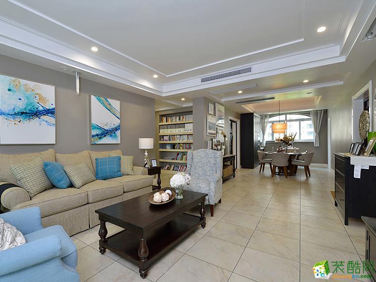 95平米现代简约风格三室两厅装修案例图|华浔品味装饰