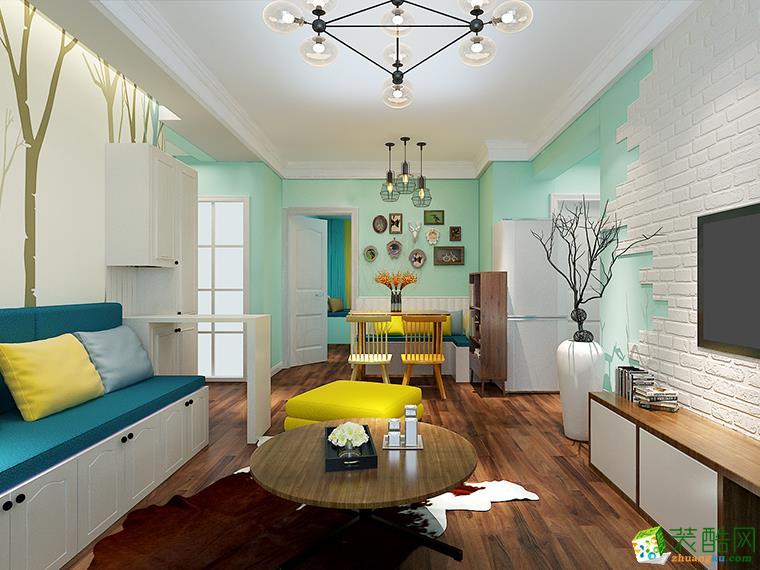 87平米三室两厅清新风格装修实景案例图|华浔品味装饰
