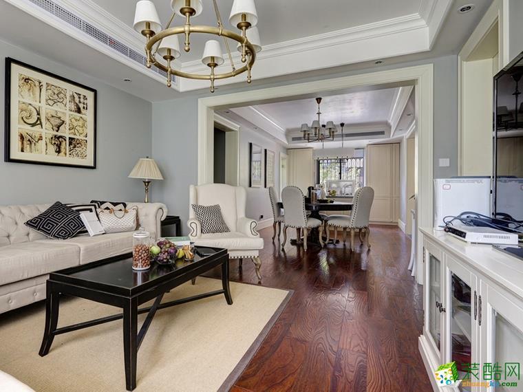 清新风格75平米两室两厅装修案例图|华浔品味装饰