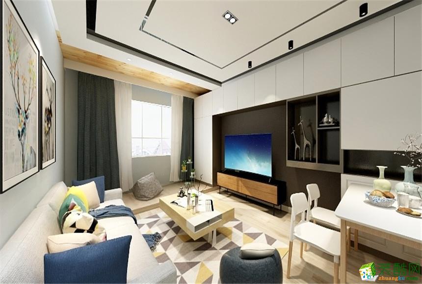 无锡锦华装饰-现代简约三居室装修效果图