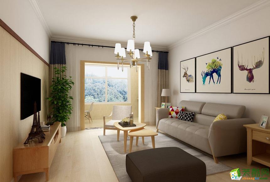 无锡锦华装饰-现代简约两居室装修效果图