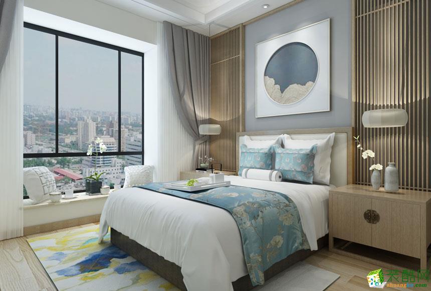 无锡锦华装饰-新中式三居室装修效果图