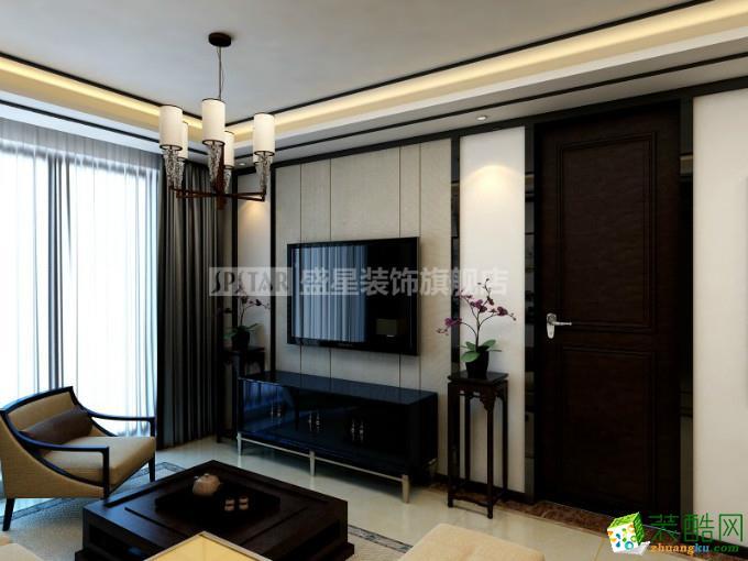 海长流90平米现代简约风格三室一厅装修案例图
