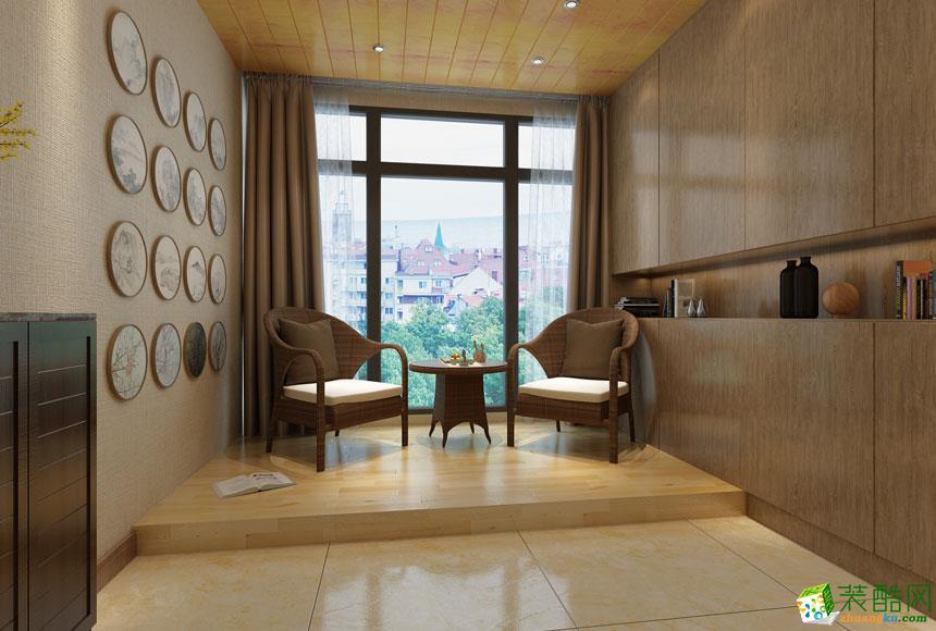 无锡欧景装饰-现代简约三居室装修效果图