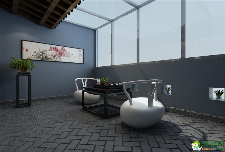 无锡中昊装饰-新中式四居室装修效果图