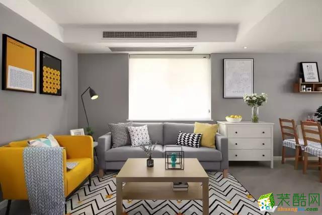 两室两厅|90平米|北欧风格|装修效果图