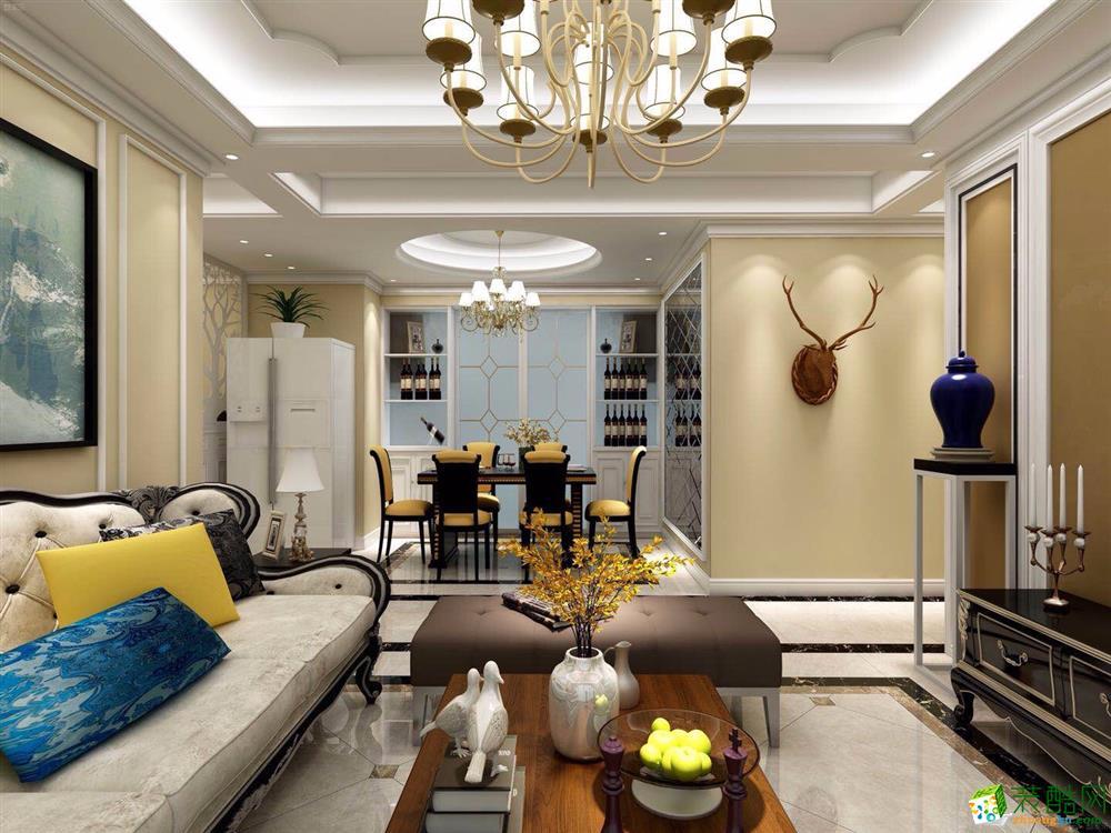 三室两厅|106平米|欧式风格|装修效果图