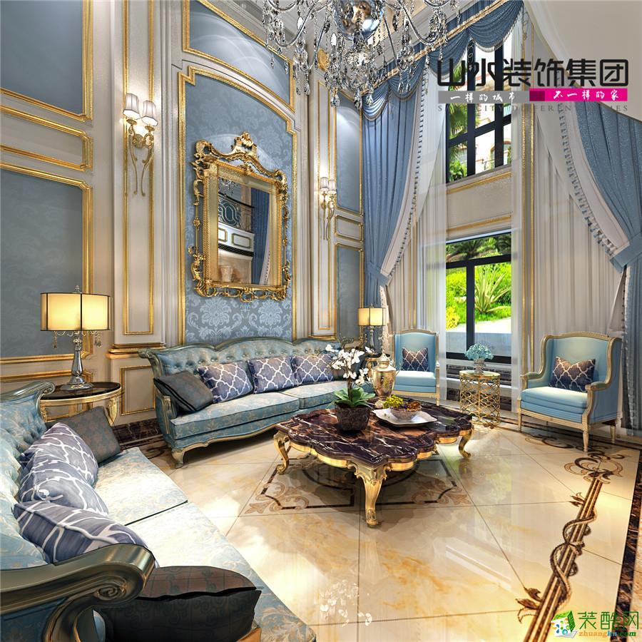百合公寓200平米复式户型法式风格案例