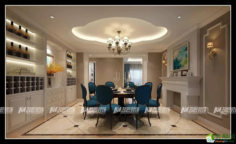 【名匠装饰】新新家园-280�O-简欧风格装修案例