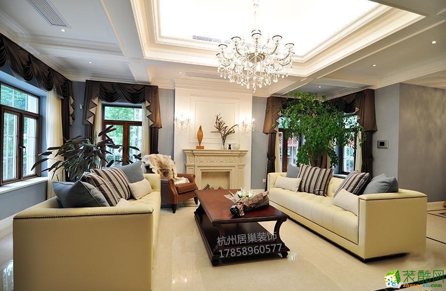 居巢装饰―金融高管的450平简欧风格别墅装修案例