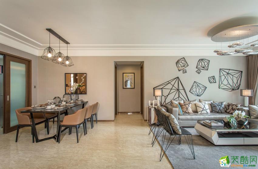六安米兰装饰-现代简约两室装修效果图