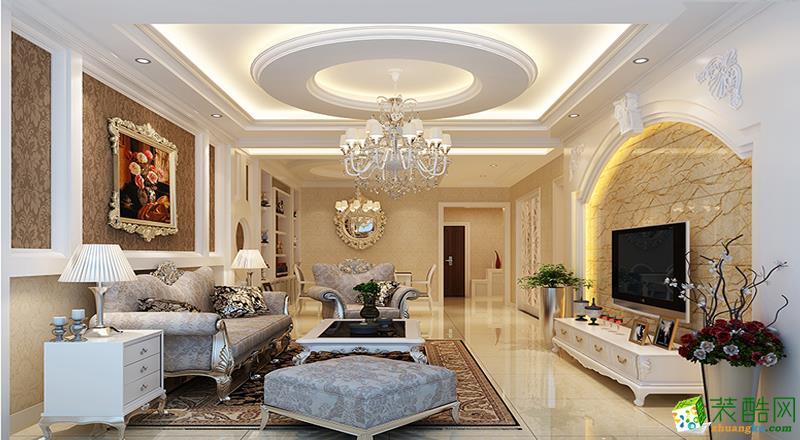 金帝庄园136平米奢华欧式风格四居室装修案例图|岭寓装饰