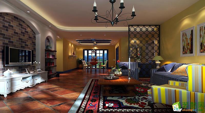 滨江国际128平米奢华欧式风格四居室装修案例图|岭寓装饰