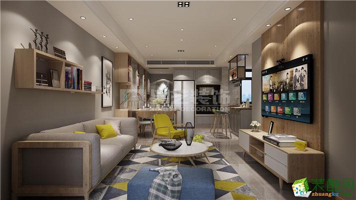 【南通星艺装饰】星光域96方三室一厅北欧风格装修设计效果图