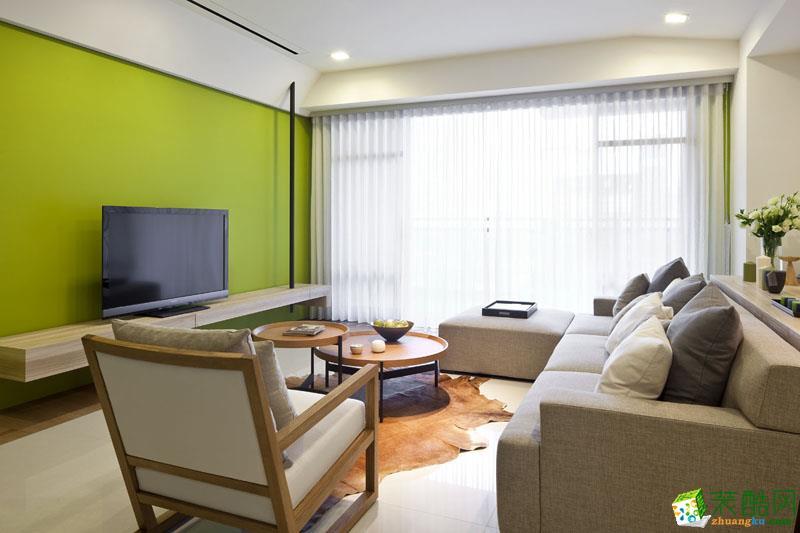 星光华印象80平米现代简约风格三室一厅装修案例图|鸿信装饰