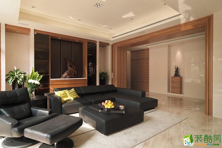 河畔新世界208平米现代简约风格别墅住宅装修案例图赏析|鸿信装饰