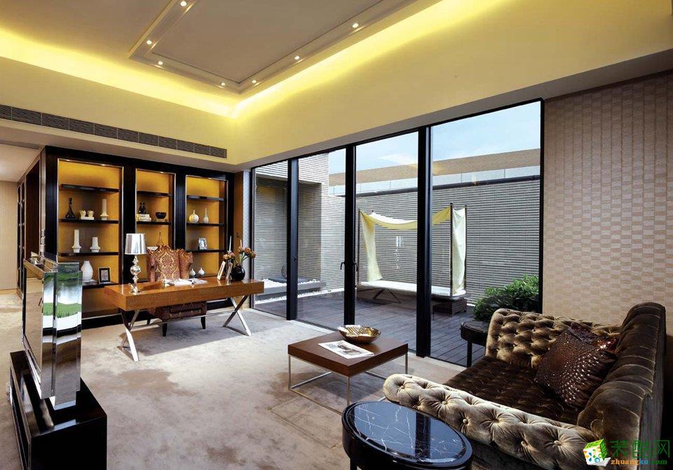 现代简约风格165平米别墅住宅装修案例图|家和装饰
